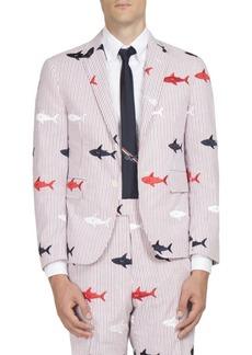 Thom Browne Shark Embroidered Jacket