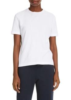 Thom Browne Side Stripe Rib Knit T-Shirt