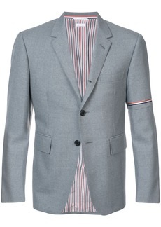 Thom Browne Single Breasted Sport Coat With Red, White And Blue