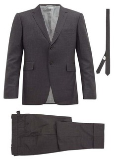 Thom Browne Single-breasted wool suit and tie