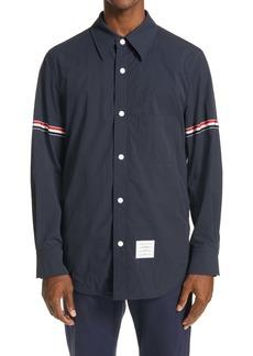 Thom Browne Snap Nylon Shirt Jacket