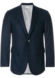 Thom Browne Solid Wool Flannel Wide Lapel Sport Coat