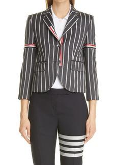 Thom Browne Stripe High Armhole Wool Sport Coat