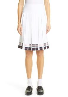 Thom Browne Stripe Pleated Skirt