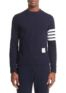 Thom Browne Stripe Sleeve Sweatshirt