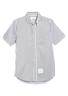 Thom Browne Stripe Straight Fit Button-Down Shirt (Nordstrom Exclusive)