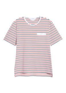 Thom Browne Stripe Welt Pocket Cotton T-Shirt (Nordstrom Exclusive)
