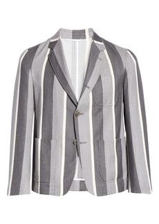Thom Browne Stripe Wool & Cotton Jacket (Nordstrom Exclusive)