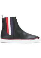 Thom Browne Striped Gusset Chelsea Hi-Top Trainer