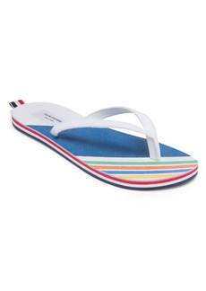 Thom Browne Striped Leather Flipflops