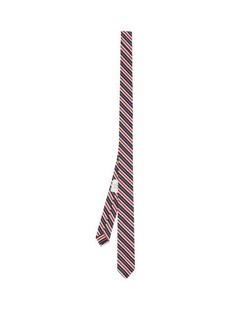 Thom Browne Striped silk-blend tie
