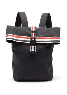 Thom Browne Striped-trim nylon backpack