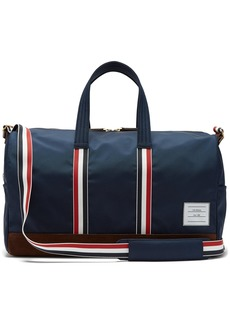 Thom Browne Suede-trimmed canvas holdall