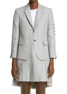 Thom Browne Tonal 4-Bar Linen Jacket