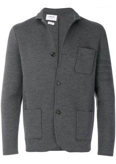 Thom Browne Tonal 4-Bar Stripe Button-Back Merino Wool Sport Coat