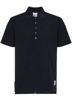Thom Browne Center-Back Stripe Piqué Polo