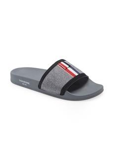 Thom Browne Trompe l'Oeil Wool Slide Sandal (Men)