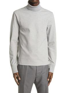 Thom Browne Varsity Sport Cotton Blend Piqué Turtleneck