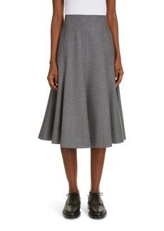Thom Browne Wool Flannel Flounce Skirt