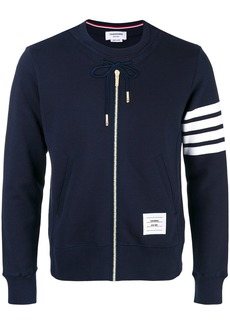 Thom Browne zip embroidered sweatshirt - Blue