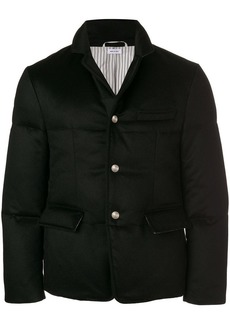 Thom Browne Tonal Grosgrain Down-Filled Cashmere Sport Coat