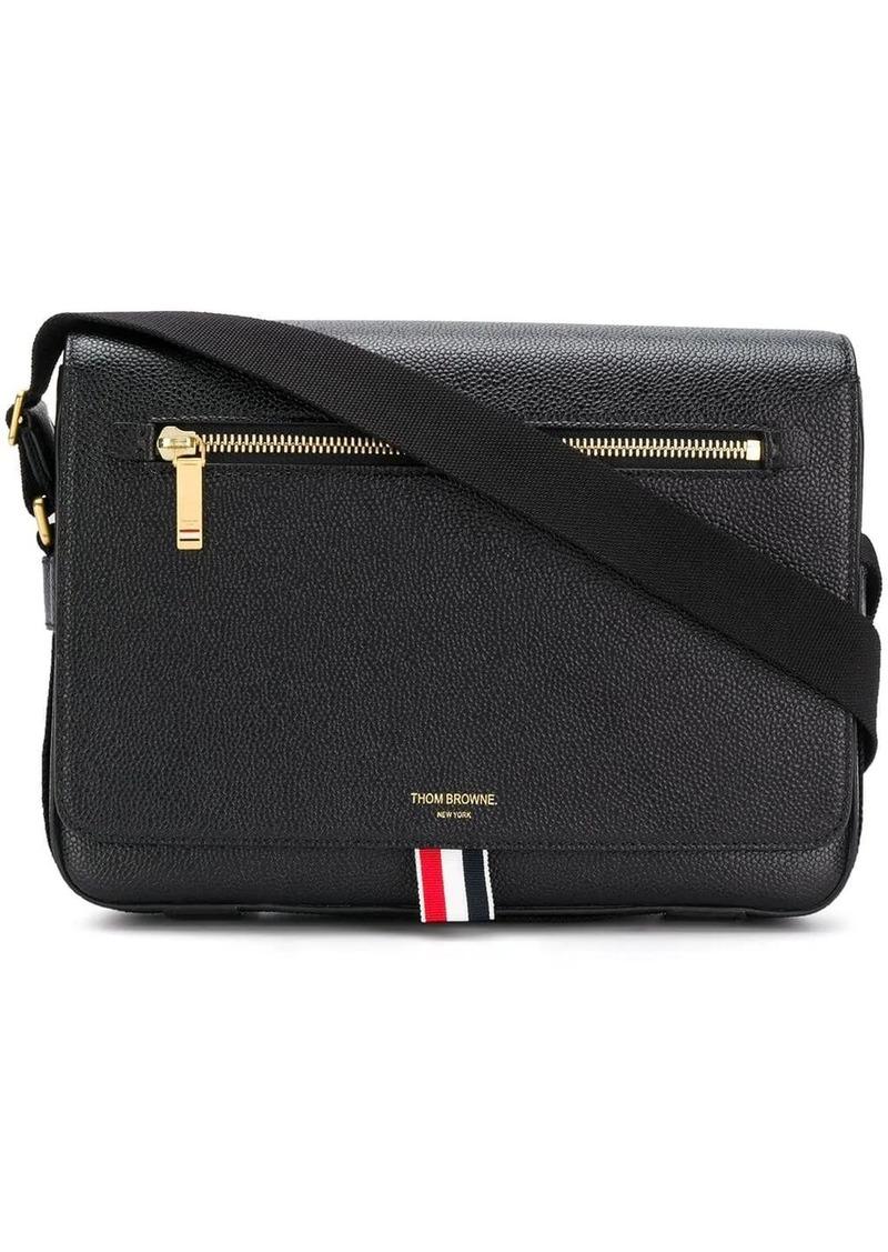 Thom Browne Tonal Strap Leather Reporter Bag