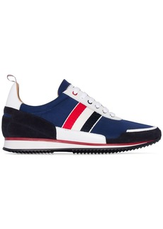 Thom Browne tri-stripe low-top runner sneakers