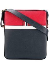 Thom Browne tricolour messenger bag