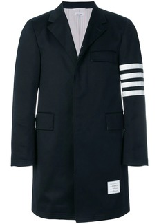 Thom Browne Unconstructed 4-Bar Stripe Classic Chesterfield Overcoat