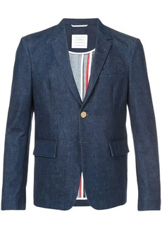 Thom Browne 4-bar Yoke Stitch Denim Sport Coat