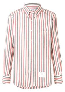 Thom Browne University Stripe Herringbone Shirt