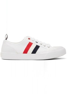 Thom Browne White Canvas Trainer Sneakers