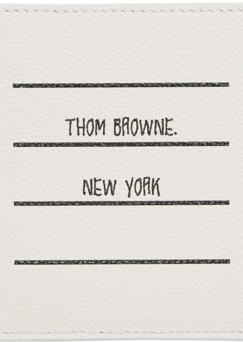 Thom Browne White Paper Label Single Card Holder