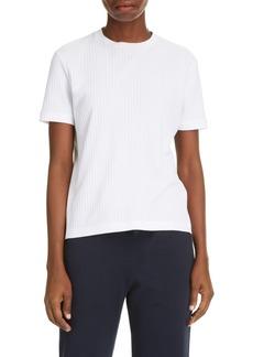 Women's Thom Browne Side Stripe Rib Knit T-Shirt