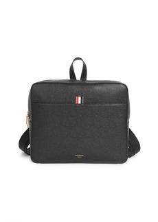 Thom Browne Zip-Top Pebbled Leather Book Bag