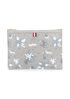 Thom Browne zip-up clutch bag