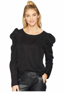 Three Dots All Weather Twill Long Sleeve Top