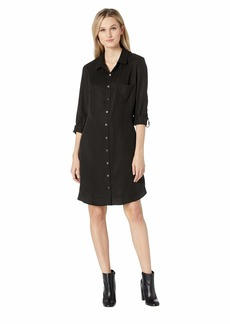 Three Dots All Weather Twill Tunic Shirtdress