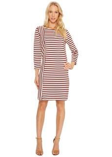 Three Dots Breton Stripe Combo Shift Dress