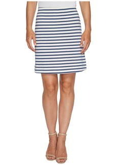 Three Dots Breton Stripe Mini Skirt