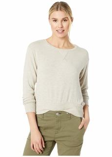 Three Dots Brush Sweater w/ Rib