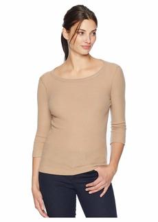 Three Dots Brushed Sweater 3/4 Sleeve British Tee