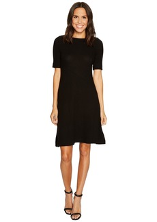 Three Dots Brushed Sweater Rib 1/2 Sleeve Dress