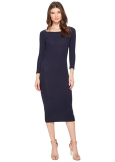 Three Dots Brushed Sweater Rib Dress