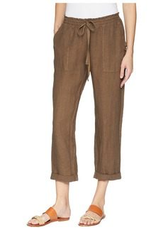 Three Dots Callie Rolled Linen Pant