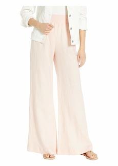 Three Dots Classic Linen Full-Length Pull-On Pants