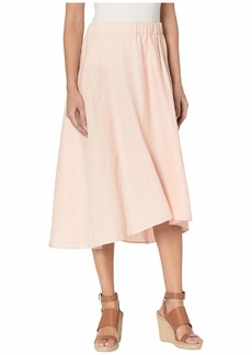 Three Dots Classic Linen Pull-On Skirt