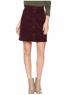 Three Dots Corduroy Button Up Skirt