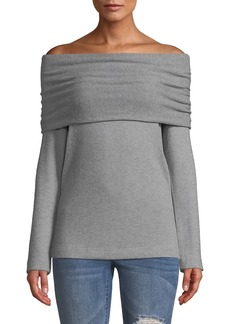 Three Dots Corey Off-The-Shoulder Sweater