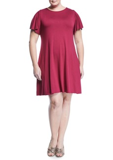Three Dots Easy Flounce Knit Dress